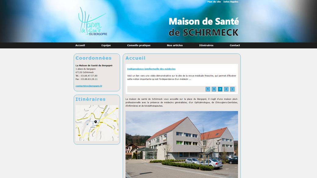 maison de santé de schirmeck site location maintenance web